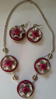 Eigen ontwerp van Eugenie Kalverla, rosé zilvere roosjes