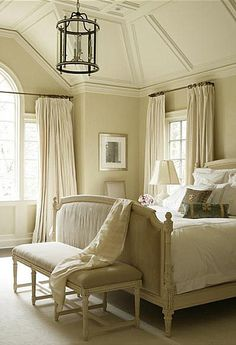 French master bedroom in pale tones...