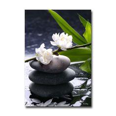 Tableau Galets et Fleurs Zen