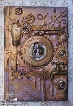 Retro Kraft Shop: Retro inspiracje: Steampunkowy notes / Retro Inspirations: Steampunk notebook