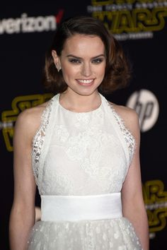 """Actress Daisy Ridley attends the premiere of Walt Disney Pictures and Lucasfilm's """"Star Wars: The Force Awakens"""" at the Dolby Theatre on December 14th, 2015 in Hollywood, California."""