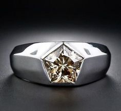 Mens 1.1ct Created DIAMOND 14k GOLD Layered Ring + LIFETIME GUARANTEE #RegaaliaJewels #WeddingBandRing