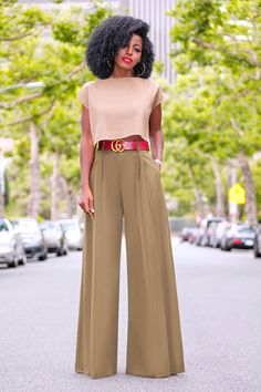 Style Pantry | Crop Top + Palazzo Pants