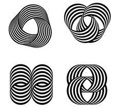 Franco Grignani, Studi per il marchio / Studies for the logo, Pura Lana Vergine, 1964, courtesy Archivio Manuela Grignani