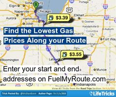 Find the Lowest Gas Prices Along your Route