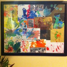 My child brings so much art home and it is just important to her as it is to us.Although you can't keep all their art, pick through the ones you treasure the most then collate them all in a file. Once you have collected all their beautiful piece put them together in a frame like this. Alternatively you can also arrange their art and glue it to canvas. I don't like cutting children's art but hey better then throwing it away or shoving it in a cupboard.