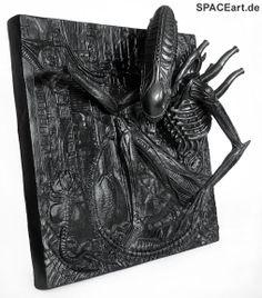 Alien: Silent Killer 3D Wallplaque, Fertig-Modell ... http://spaceart.de/produkte/al011.php