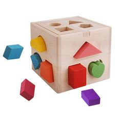 Aliexpress.com : Buy Educational toys 0   3 baby intellectual box shape blocks wooden toy DIY from Reliable natural toy suppliers on MyChildhood.