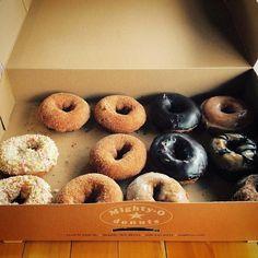 Found Donut photo (not mine) .. enjoy Well hello @mightyodonuts ...Mmm 12 vegan doughboys all to myself #noregret...
