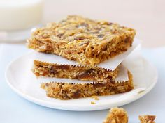 This recipe is for muesli slice. Make it ahead, cut it up and wrap in paper for a breakfast you (and the kids) can eat on the go.