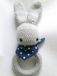 Crochet Babt Rattle Bunny Rabbit Rattle Handmade Soft Rattle Bunny Rabbit, Trending Outfits, Crochet, Unique Jewelry, Handmade Gifts, Baby, Vintage, Kid Craft Gifts, Craft Gifts