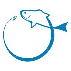 blue fish with lure clip art   fishing-icon130307.jpg