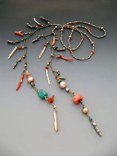 jewelry making beads Lariats: Lucia Antonelli: Jewelry: Semi-Precious Stones, Metal Beads - One of a kind jewelry designed and handmade by Lucia Antonelli. Photo gallery of Lariats. Jewelry Making Beads, Wire Jewelry, Boho Jewelry, Beaded Jewelry, Jewelry Box, Jewelery, Jewelry Accessories, Jewelry Necklaces, Handmade Jewelry