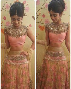 My today's look. Lengha by charmi shah . Thankyou so much I loved it. Pakistani Dresses, Indian Dresses, Indian Outfits, Lehnga Dress, Bastilla, Indian Bridal Fashion, Lehenga Designs, Indian Designer Wear, Bridal Lehenga
