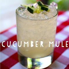 Cucumber Mule at @brasseriestl by @layla linehan : house infused cucumber vodka, simple syrup, lime, goslings ginger beer #cheers #summercocktails #ahhh