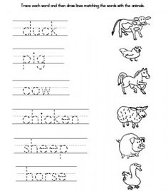 traceable farmer | We also created a fun worksheet containing a matching game. It also ...