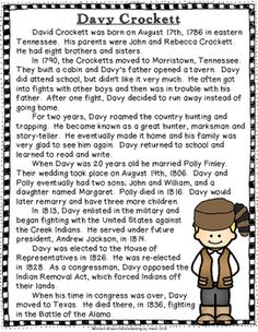 Davy crockett homework help