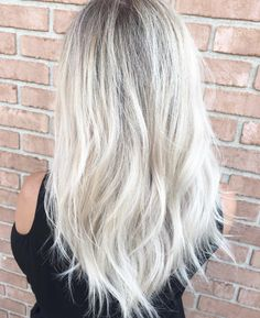 Platinum Highlights Cool Ash Blonde hair color vanityhairsandiego,com
