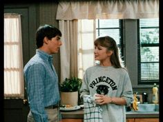 Tom Cruise and Rebecca De Mornay in Princeton University grey sweater in movie Risky Business Risky Business Movie, 1980s Films, 1990s, High School Love, Famous Duos, Girls Toms, Chicago Hotels, Tom Cruise, Vintage Movies