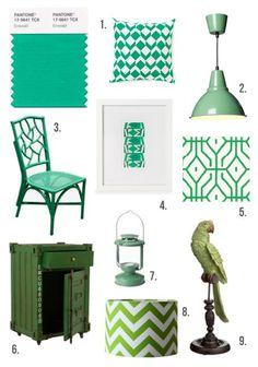 Image result for emerald green homewares