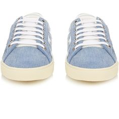 Court Classic star-appliqué denim trainers Saint Laurent... (26,420 PHP) ❤ liked on Polyvore featuring shoes, sneakers, denim shoes, yves saint laurent, yves saint laurent sneakers, star shoes and denim sneakers