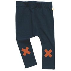 X Logo Pants in Navy by Tinycottons - Junior Edition