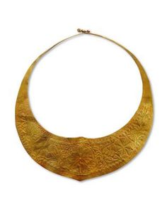 Indonesia ~ Nias Island   Woman's necklace; gold   Page 86, 'Ethnic Jewellery from Indonesia. Continuity and Evolution' By Bruce W. Carpenter
