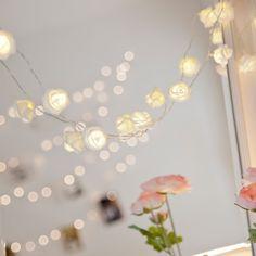 Rosen Lichterkette warmweiß #shabbychick #nostalgie