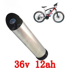 169.10$  Buy here - http://ali6rk.worldwells.pw/go.php?t=32635441327 - Free TNT shipping 1pcs/lot 36V 12ah Bottle Electric Bicycle Battery with slim Aluminium Case, BMS and Charger 169.10$