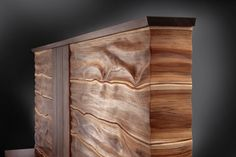 Headboard for a bed by Jory Brigham, designer and maker.
