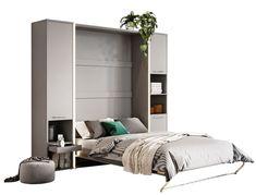 Skapseng med bokhyler grå med madrass 140x200 Concept Pro Entryway, Bed, Furniture, Concept, Home Decor, Entrance, Decoration Home, Stream Bed, Room Decor