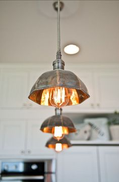 Kitchen island lighting pendant - 20 Beautiful Kitchen Island Pendant Lighting Ideas to Spruce Kitchen Up Beautiful Kitchens, Rustic Lighting, House Design, Industrial Style Lighting, Lighting Inspiration, Kitchen Pendant Lighting, Home Lighting, Lights, Kitchen Island Lighting Pendant