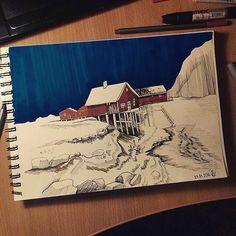 archisketcher Lovely drawing by @aleksandra_sudnikovich