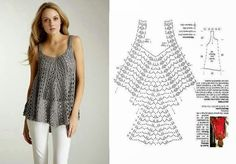 Lace crochet top - Pattern