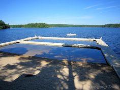 Three Point Waterfront at Camp #Yawgoog, Rockville, Hopkinton, Rhode Island (RI).  A 2014 image by David R. Brierley.