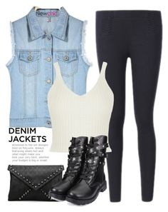 """""""#I LOVE NEWCHIC#Newchicstyle"""" by lovenewchic ❤ liked on Polyvore featuring denimjackets and WardrobeStaples"""