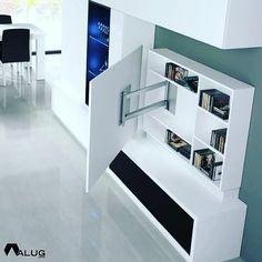 30 Unique Bonus Area Ideas for Your House Wohnzimmer / Sideboard Bedroom Tv Stand, Tv In Bedroom, Bedroom Storage, Living Room Tv Unit, Living Room Decor, Bedroom Decor, Living Rooms, Tv Wall Design, House Design