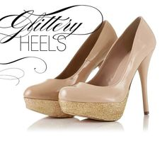 DIY glittery heels - in case you couldn't figure it out!