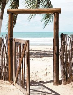 Brazilian Beach House Tour Use rolls of bamboo along walls to create beach feeling. Tropical Beach Houses, Tropical Beaches, Tropical Paradise, Tropical Homes, Beach House Tour, Beach House Decor, Home Decor, Beach Cafe, Beach Shack