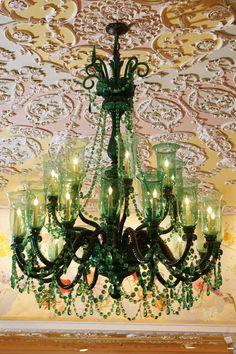Emerald color chandelier