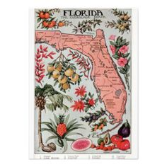 old florida wedding invitations | Vintage Maps Invitations, 469 Vintage Maps Invites  Announcements