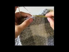 Crochet Gingham in Grey - YouTube