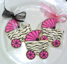 Custom Decorated Gourmet Baby Carriage Sugar by SweetRoseCookies