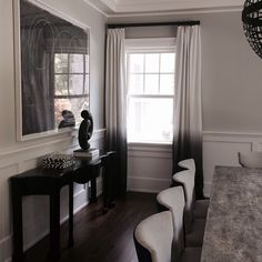 Fade to black // more of our custom ombré fabric installed by our friends @dekardesign