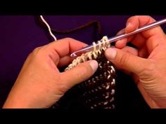 Useful Tunisian knit stitch video! Although, I watched it with the sound off so I don't know how the verbal instruction is.