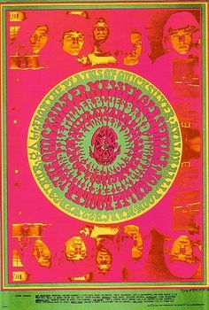 Quicksilver Messenger Service, John Lee Hooker and Miller Blues Band at Avalon Ballroom 22-23/03/1967. Art by Victor Moscoso.