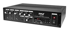 Pyle-Home 240Ws Power Amplifier with 70V Output and Mic Talkover LED Display PT510