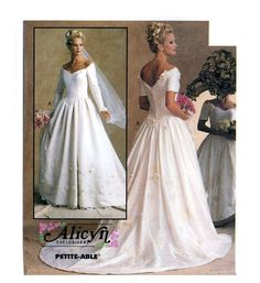 Wedding dress sewing pattern McCall's 8563 Bust 32 1/2 to 36