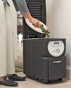 One for the kitchen, please. Deluxe Electric Kitchen Scrap Composter from Gardener's Supply.