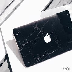 Gorgeous black marble MacBook case / cover.